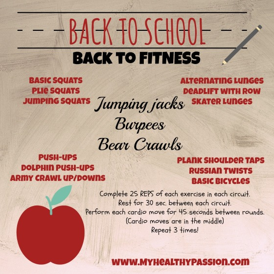 back to school back to fitness